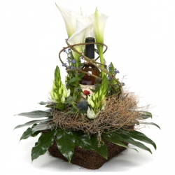 Arrangement met fles Whisky